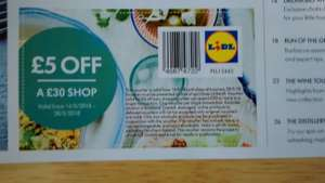 £5 off a £30 in store spend at Lidl - via Lidl Moments Booklet