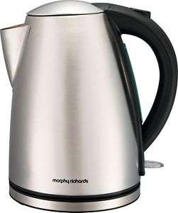 Morphy Richards 3kw 1.7 litre stainless steel kettle with 2 year guarantee now £15.99 delivered @ eBay sold by Argos