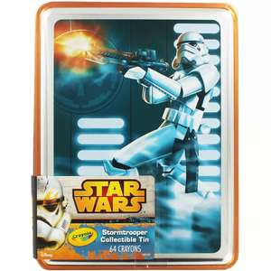 Crayola Star War Stormtrooper Ltd Ed Collectible Crayon Tin with 64 Crayons now £2.80 C+C @ The Works