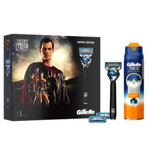Gillette Fusion ProShield Chill Razor Justice League Edition Gift Set/2 x Blade Refills and Sensitive Shaving Gel, £8.54 Prime £12.53 Non Prime at amazon