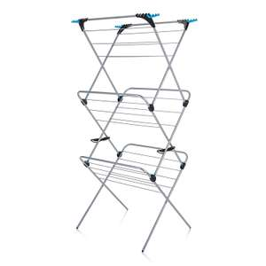 Minky 3 Tier Plus Indoor Airer, 21m drying space, Silver, £15 at amazon (£4.99 non prime delivery)