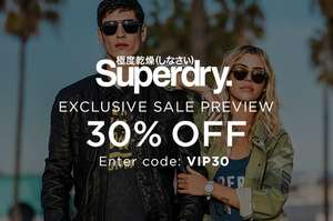30% off Superdry with Code @ The Hut