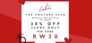30% off for 24hrs @ The Couture Club