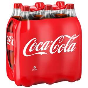 Coca-Cola Regular 6 x 1.25L only £4 @ b+m