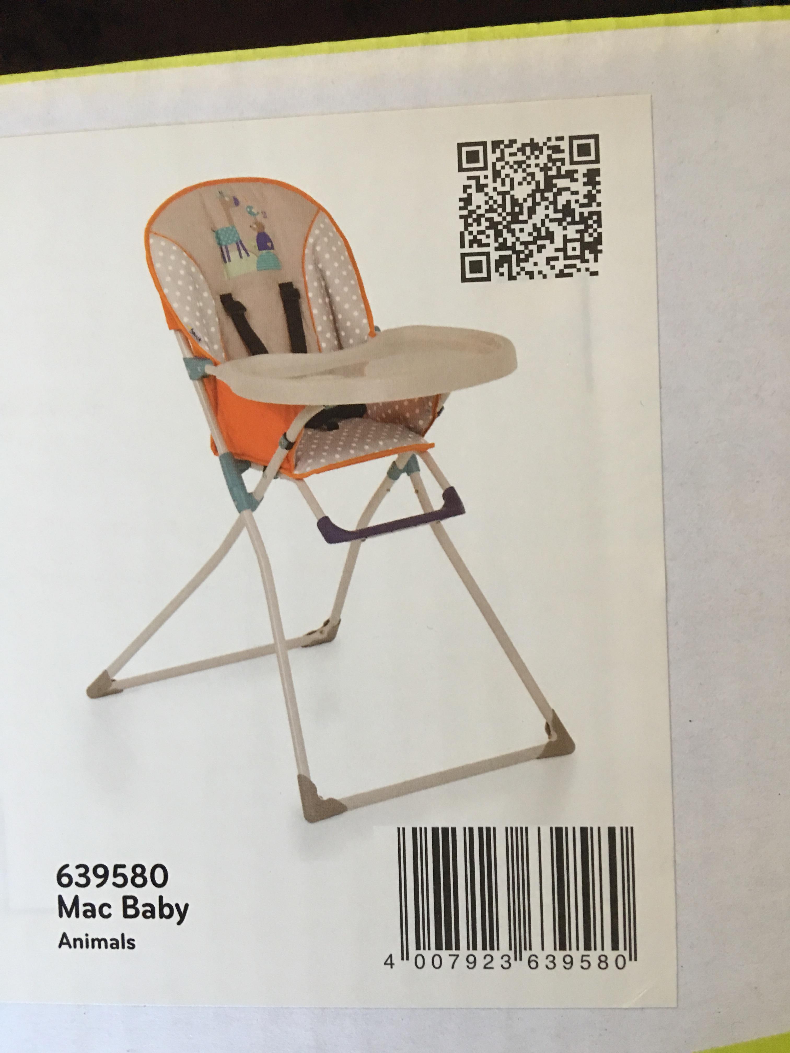 Hauk Mac Baby Highchair £12.99 instore @ lidl