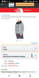 The North FaceThermal Insulation Jacket L - 43.80 @ amazon
