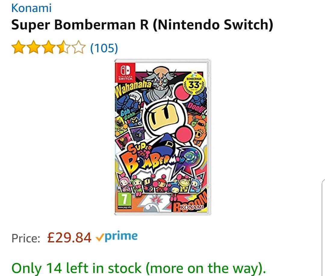 Super Bomberman R (Nintendo Switch) £29.84 @ Amazon