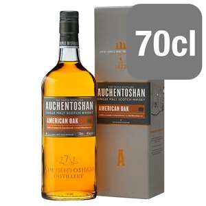 Auchentoshan American Oak Single Malt Whisky 70cl - £20 at @ Sainsbury's