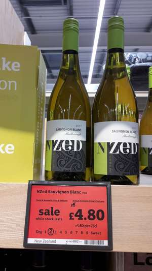 N ZED Marlborough Sauvignon Blanc £4.80 at Sainsburys
