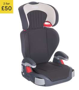 2 for £50 - Graco Junior High Back Booster Car Seat without harness, Group 2-3, Dove Grey at Tesco Direct