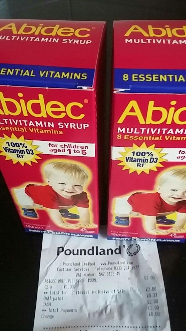 Abidec multivitimins for children for £1 instore at Poundland