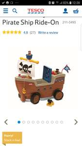 little tikes ride on pirate..back in stock , tesco direct , free c&c £25