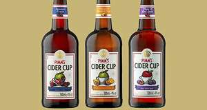 Pimm's Cider Cup Summer Fruits or Strawberry and Cucumber 500ml bottle for 79p in-store at Home Bargains
