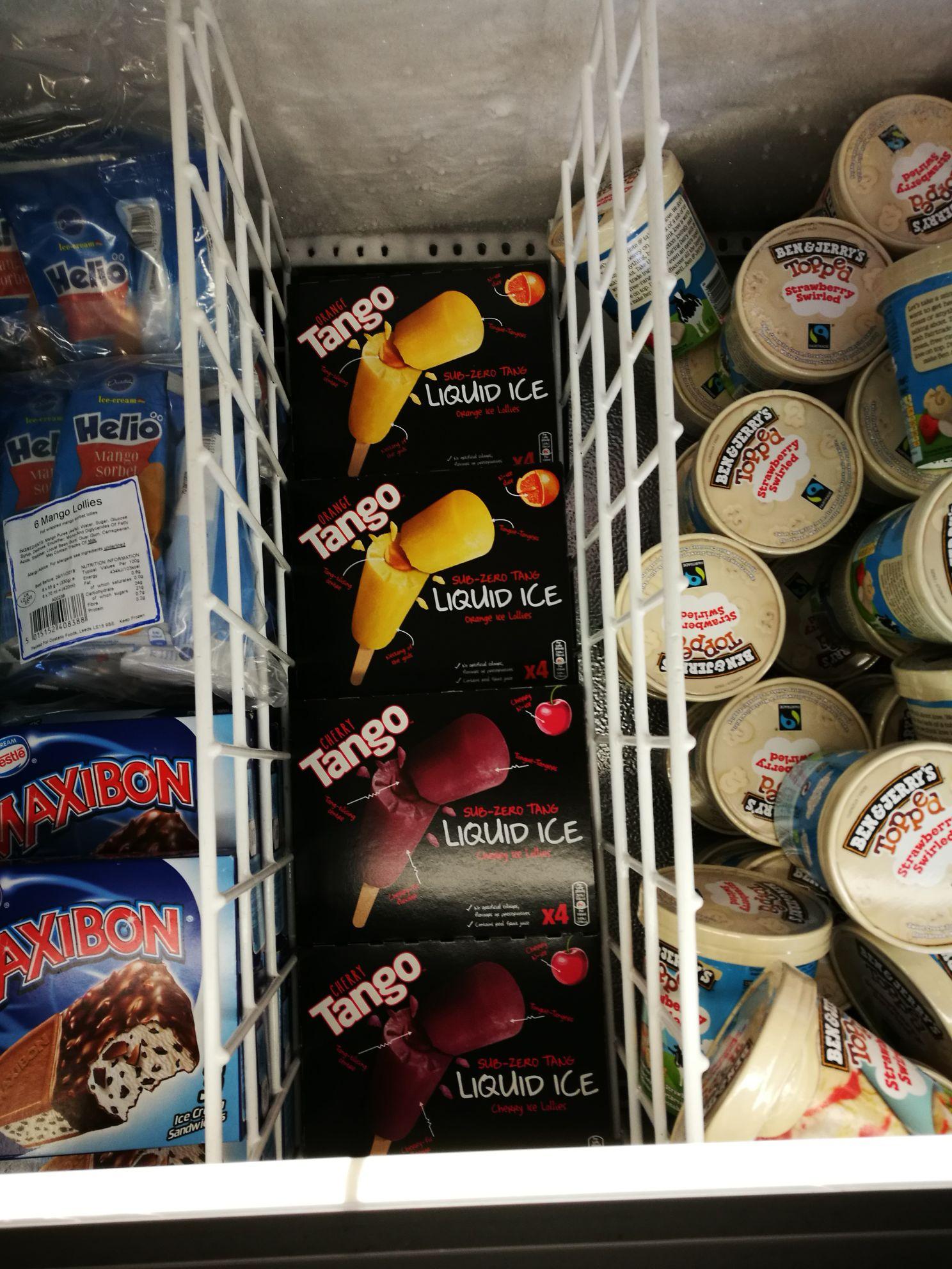 Tango ice lollies £1 @ heron foods