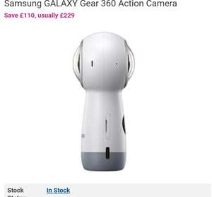 Samsung GALAXY Gear 360 Action Camera £110 @ BT SHOP