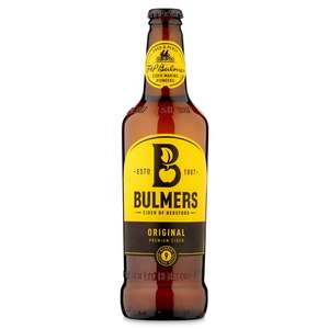Bulmers Original or Pear Cider (500ml) £1 @ Morrisons
