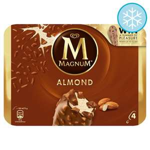 Magnum Almond Ice Cream 4 X100ml £2 at Tesco