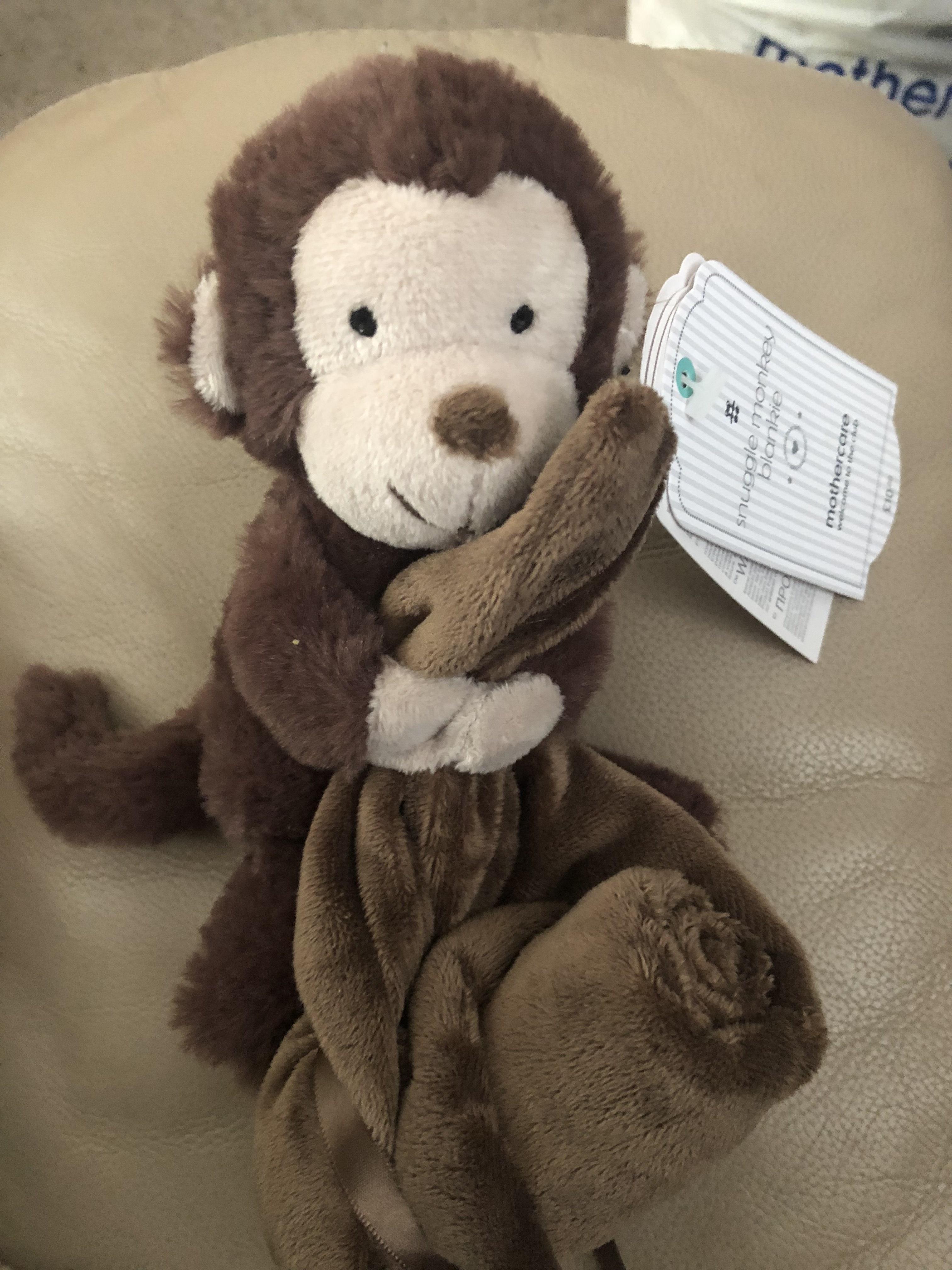 Mothercare monkey plush & blanket set £3 instore