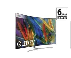 2017 Samsung QE55Q8C 55 inch Curved 4K Ultra HD Premium  Smart QLED TV + 6 year guarantee included + Free International football Jersey. £1299 @ RicherSounds