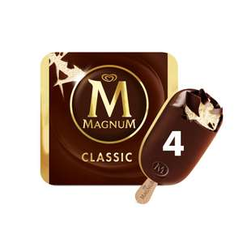 Magnum Classic Ice Cream 4 x 110ml £1.89 @ Iceland