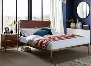 Dreams king size bed frame with head board (copper). £99 + £3.95 postage