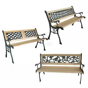 Westwood 3 seat hardwood / cast iron bench 3 designs £39.90 delivered @ eBay sold by kmsdirectshops
