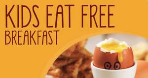 Free breakfast for 2 kids with 1 adult breakfast £9.50  @ Brewers Fayre (non Premier Inn locations adults £6.25 + 1 child free)
