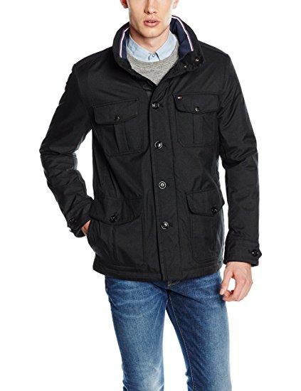 Tommy Hilfiger Men's Alan Af Coat (Black, size Large) - £63.19 @ Amazon