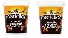Meridian Smooth and Crunchy Peanut Butter 454g Reduced to £2 @ Asda