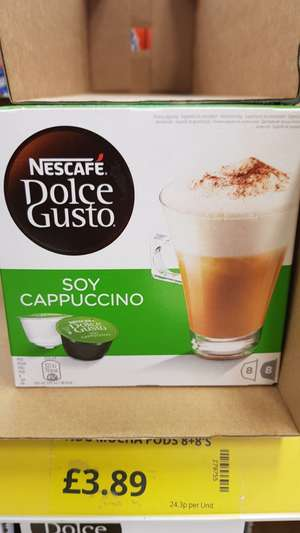 Dolce Gusto Soy Milk Cappuccino Pods £3.89 @ Poundstretcher