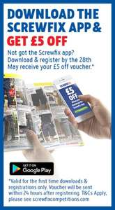 Download the Screwfix app for £5 off (£30 min spend applies).
