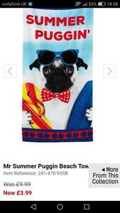 £3 beach towels offer with free delivery (with code) @ Studio