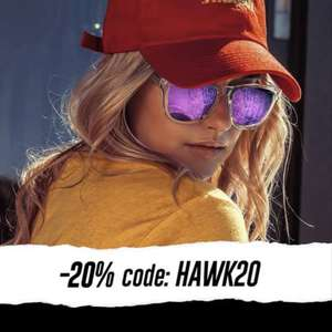 Get 20% off at checkout using code @ Hawkers