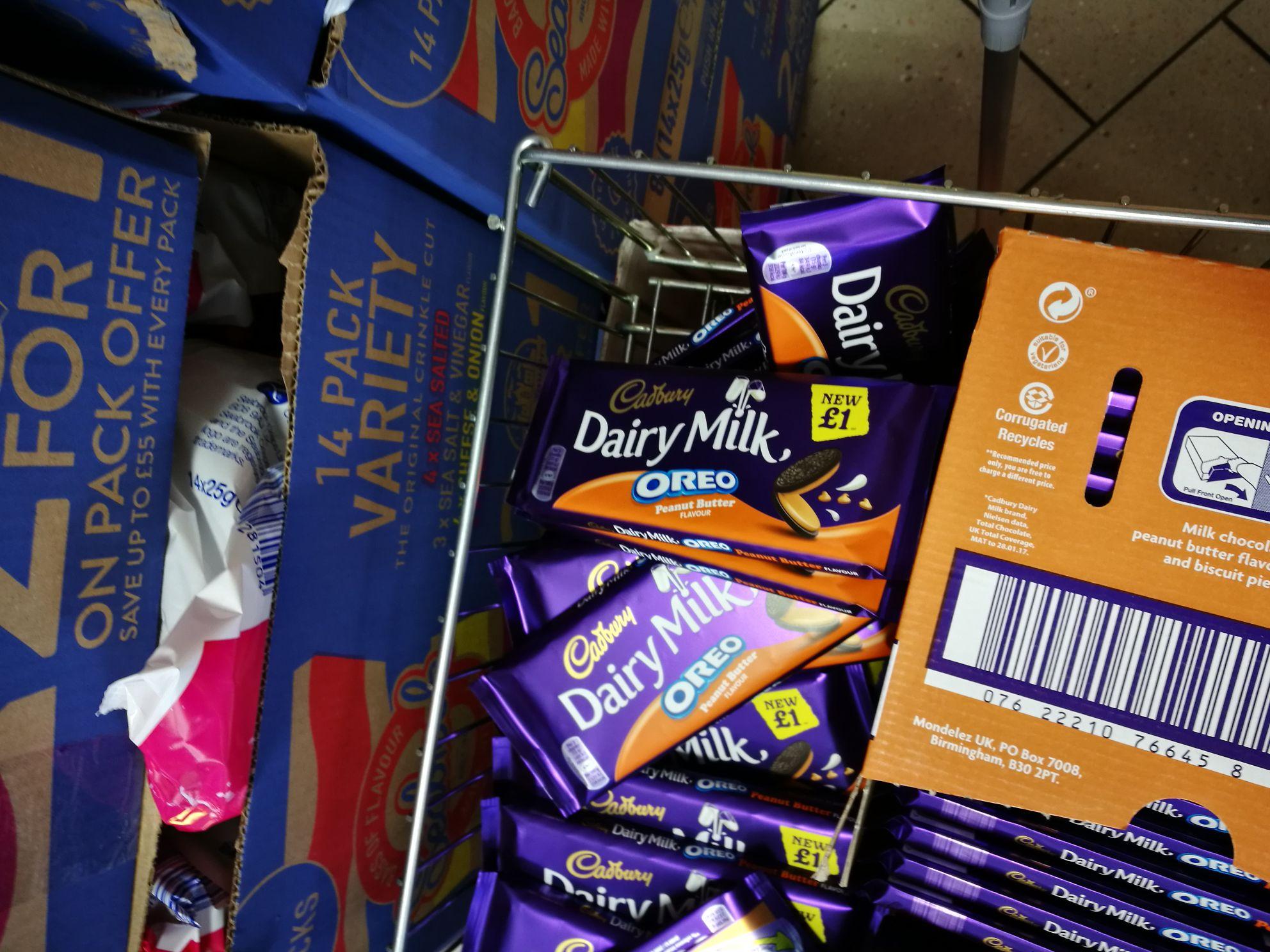 Cad dairy milk oreo peanut butter 39p instore @ heron foods (Oldham)