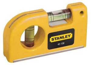 Stanley Pocket Sized Spirit Level, £1.00 FREE Click + Collect @ Wickes