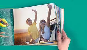 120 Page A4 photobook (96 pages free) for £24.99 + £4.99 P&P @ Bonusprint