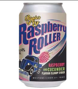Rosie's Pig Raspberry Roller cider 330ml Free today on Checkoutsmart - £1.50 at Tesco