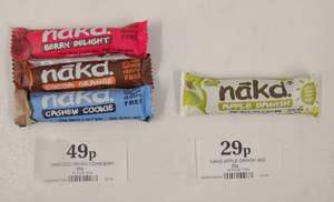 Nakd Bars - Apple Danish, Berry Bliss, Cocoa Twist £0.29 / Berry Delight, Cocoa Orange, Cashew Cookie £0.49 at Home Bargains