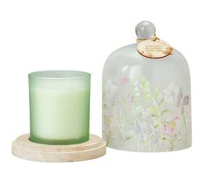 Foxglove & Daisy Cloche and Candle - White (was £13.99) Now £7.00 at Argos