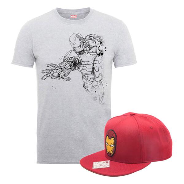 Marvel Comics Iron Man T-Shirt + Snapback Bundle £14.99 Delivered - DC Comics Superman Blueline Figurine £14.99 @ Zavvi