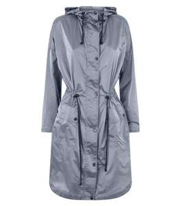 Silver Hooded Longline Parka £5.00 (was £19.99) + £3.99 delivery @Newlook