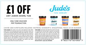 £1 off Jude's icecream