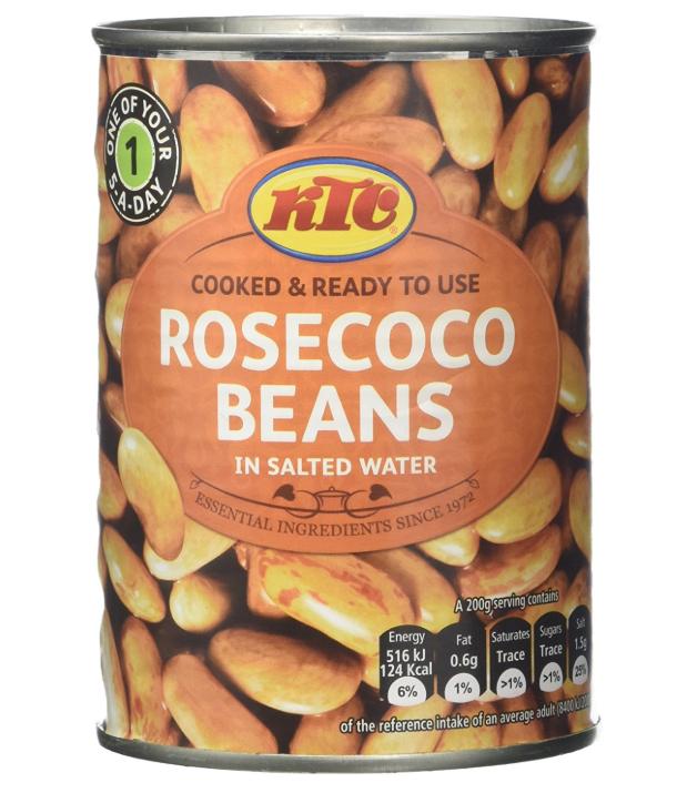 KTC Rosecoco Borlotti Beans 400 g (Pack of 12) amazon add on item minimum 20 pound spend required £3.60
