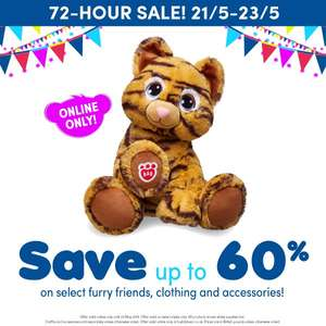 Build a bear Flash sale for 72 hours selected Bears, Clothing and accessories Online Only