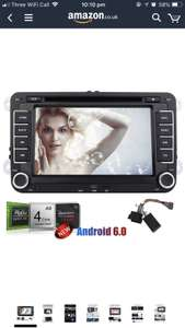 Used Good: Amazon Warehouse £71.17 Android 6.0 Double Din Car Stereo with GPS Navigation for VW PASSAT Golf 7'' Capacitive Touch Screen Car DVD Player In Dash Headunit Radio Receiver with Canbus Support WiFi/Bluetooth/OBD2/1080p