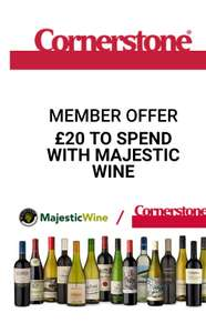 Corner stone give away: £20 to spend at Majestic wine house when you spend £20 at Corner stone