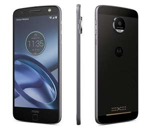 Motorola Moto Z (Refurbished) - 4GB RAM/32GB Storage, SD 820 Processor, 5.5in QHD AMOLED Screen, 13MP Rear Camera in Lunar Grey.  (Includes 15% discount) £127.49 ebay / exdemolaptops
