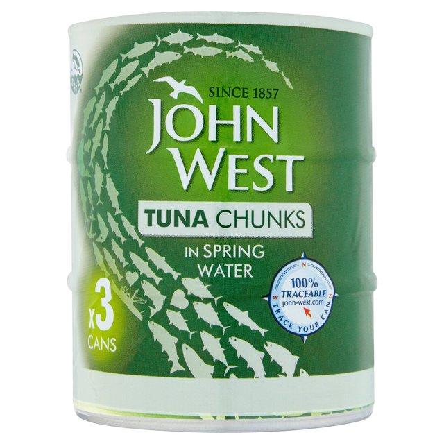John West Tuna Chunks In Spring Water 3 x 145g £2.50 @ Morrisons