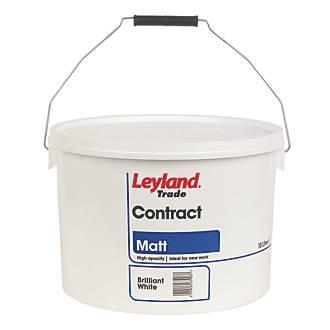 LEYLAND TRADE CONTRACT MATT EMULSION PAINT BRILLIANT WHITE 10LTR - 13.59!! @ Screwfix