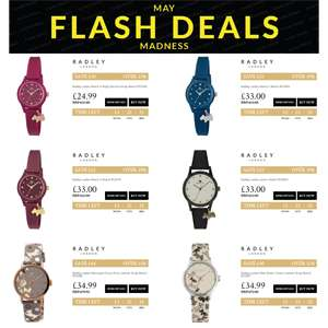 Women's Radley Watch Sale - Starting from £24.99 Delivered @ Watches2U [Ends Midnight tonight]